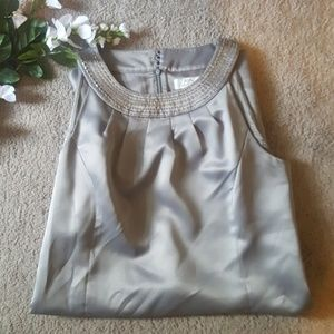 Silver Ann Taylor Loft Dress, 12